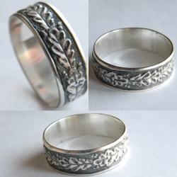 кольцо с дубовыми листьями