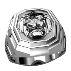 Кольцо голова Льва