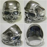 Серебряное Байкерское кольцо Череп