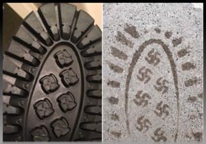 ботинки со следами свастики
