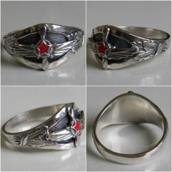 Серебряное кольцо Инженерно-авиационная служба